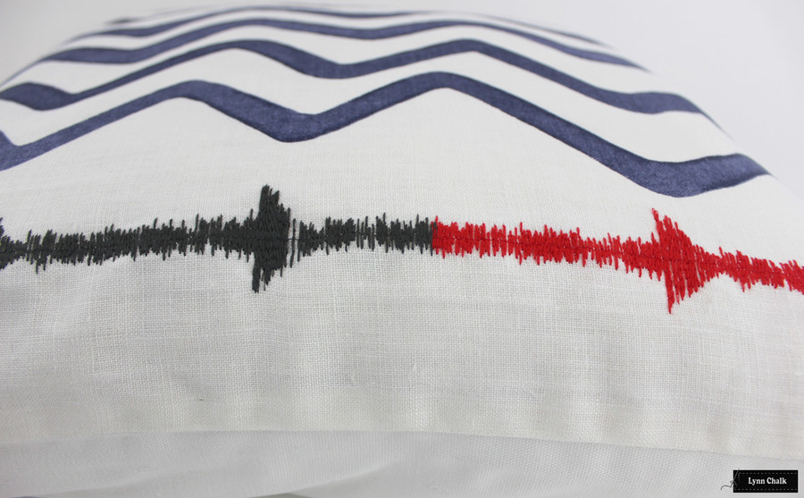 Christopher Farr Rick Rack Custom Drapes (shown in Indigo-comes in 5 colors)