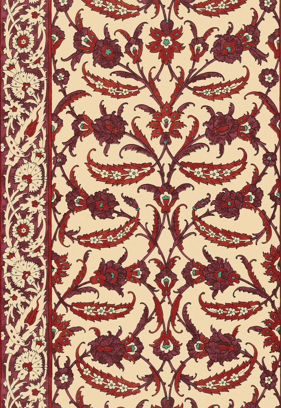 Schumacher Martyn Lawrence Bullard Topkapi Pomegranate Wallpaper 5006662