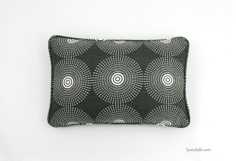 ON SALE Jonathan Adler Super Nova in Noir with Welting 12 X 18 Pillow Cover (Both Sides)