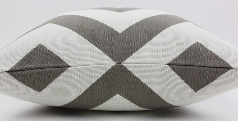 Design is matched at top of pillow