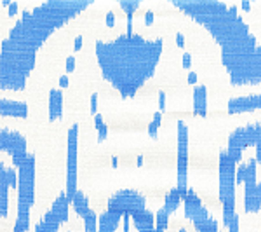 Quadrille Island Ikat Zibby Blue on White