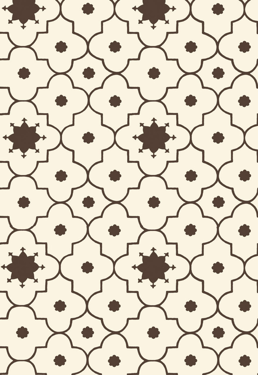 Martyn Lawrence Bullard for Schumacher Wallpaper Taj Trellis in Sepia
