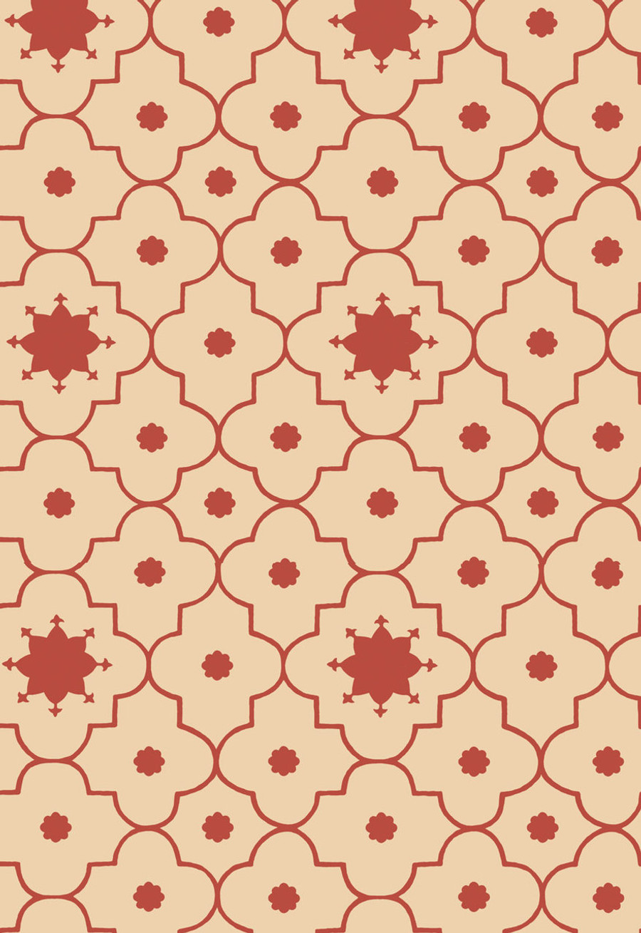 Martyn Lawrence Bullard for Schumacher Wallpaper Taj Trellis in Pomegranate