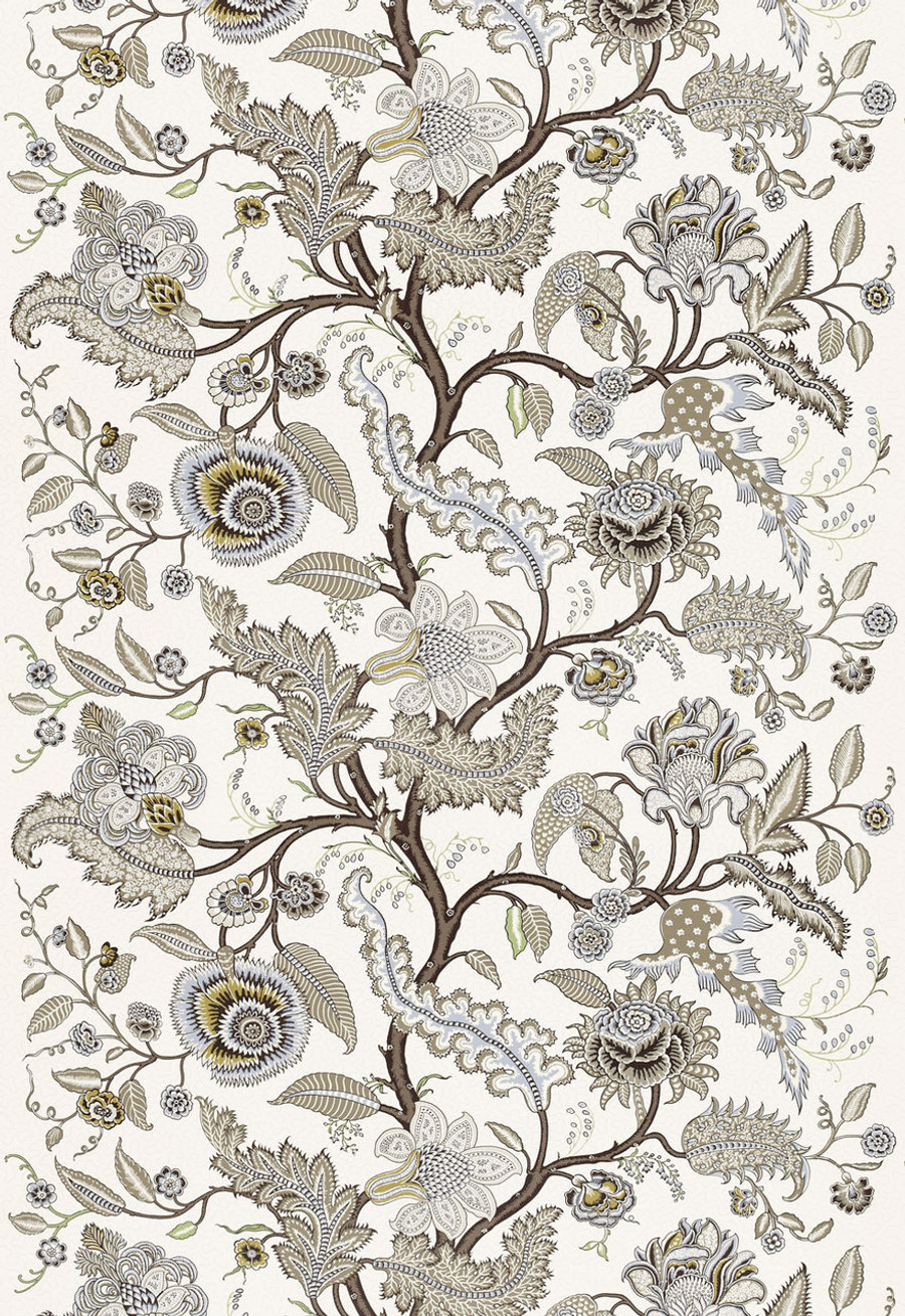 Martyn Lawrence Bullard Wallpaper Sinhala Sidewall in Stone - Priced by the yard.  Sold in 8 yard increments.