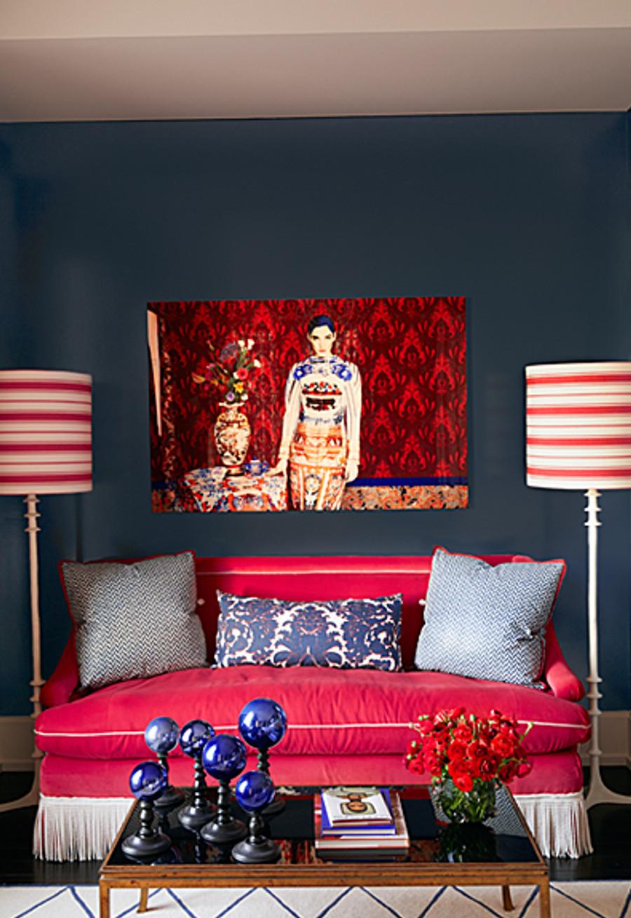 Alessandra Branca For Schumacher Branca Stripe Rouge 68311