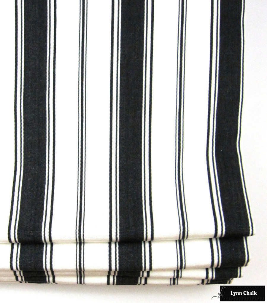Branca Stripe Noir Roman Shade