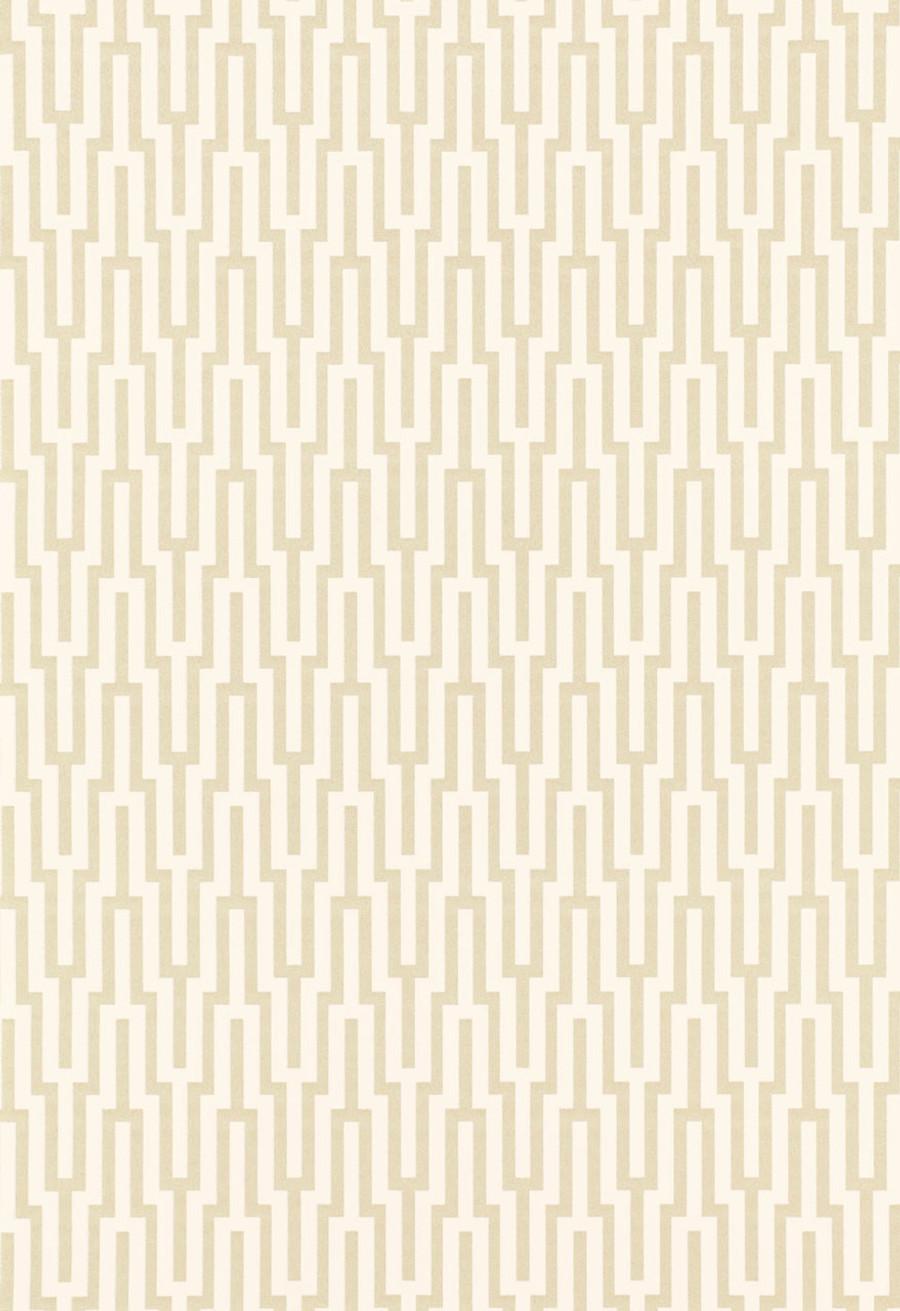 Schumacher Metropolitan Fret Wallpaper Crystal 5005890