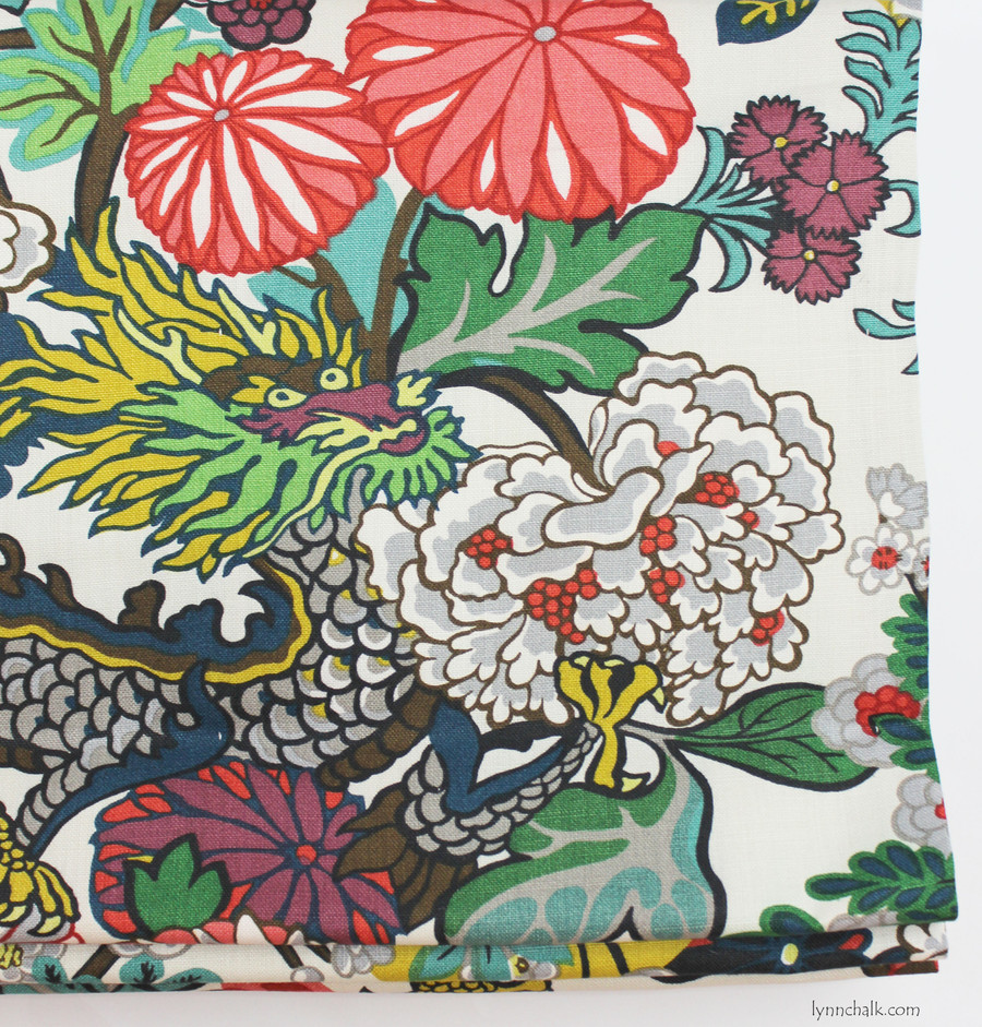 Schumacher Chiang Mai Dragon Roman Shade (shown in China Blue-comes in many colors)