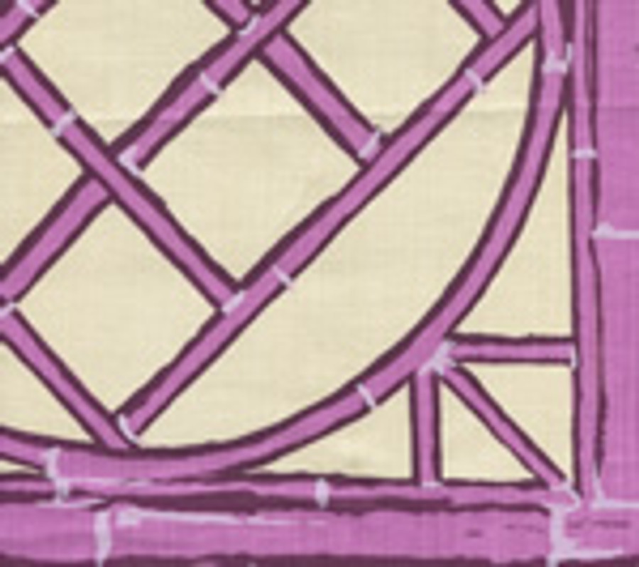 LYFORD TRELLIS   6020W 08 Lilac Purple on Cream
