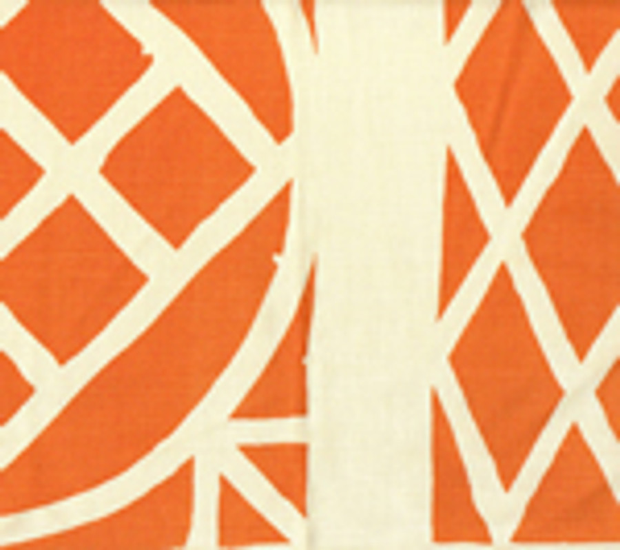 Trellis Background Wallpaper Orange On Tint