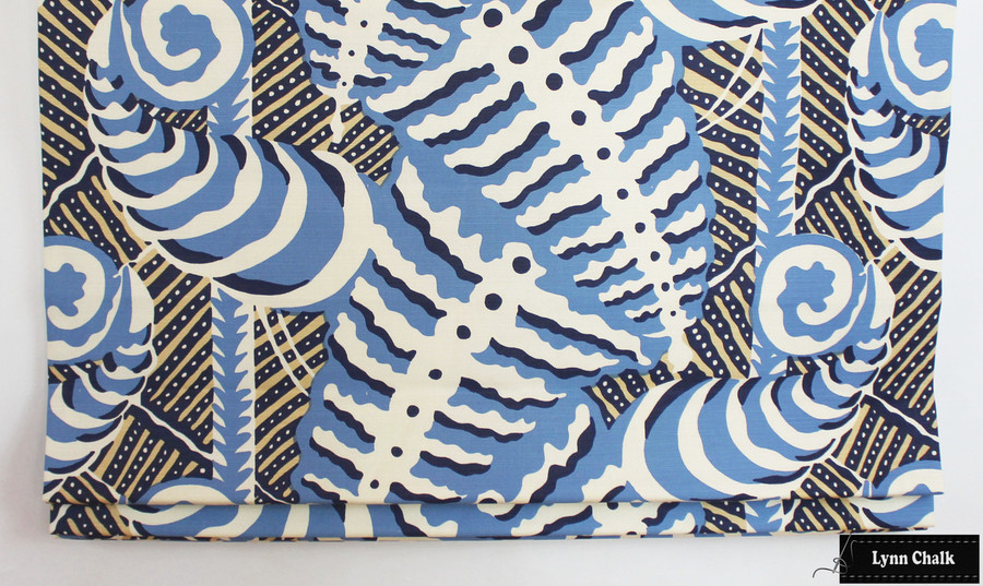 Quadrille Alan Campbell Ferns in Blues Beige on Tint
