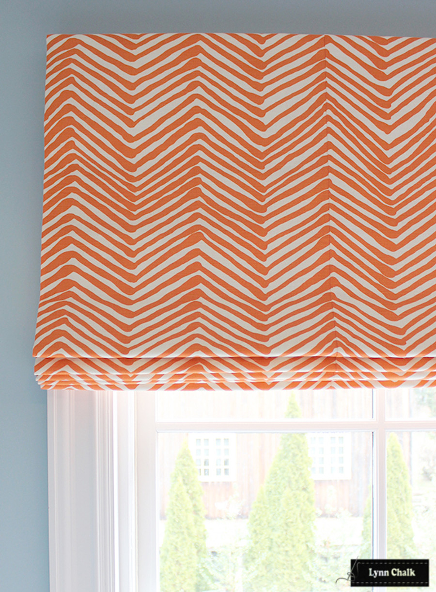 Quadrille Alan Campbell Zig Zag - Brown (Comes in 14 Colors)