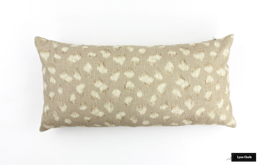 Kelly Wearstler for Lee Jofa Feline Ebony Beige Fabric GWF-3106 816