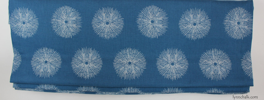 "Custom Roman Shade in Kelly Wearstler Sea Urchin in Teal/Dove (38"" Wide)"