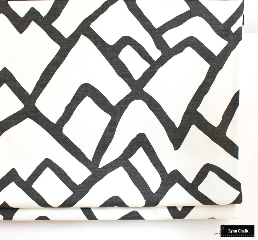 Schumacher Zimba Custom Roman Shade in Charcoal (comes in several colors)