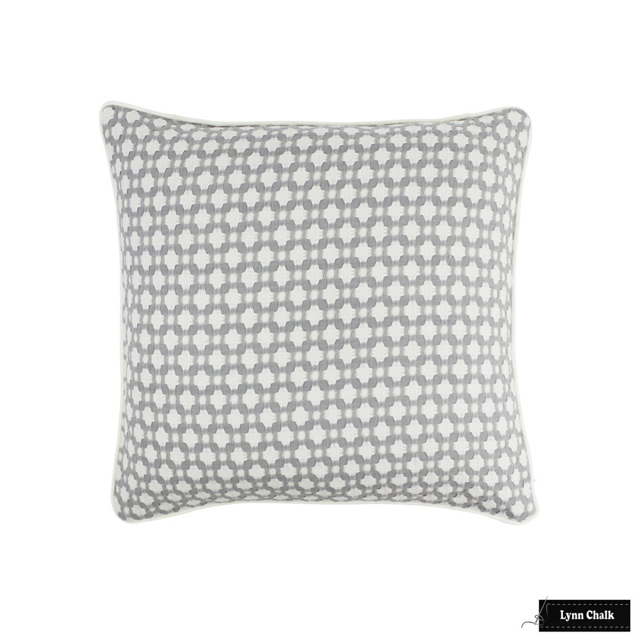 Schumacher Celerie Kemble Betwixt Zinc/Blanc 65684