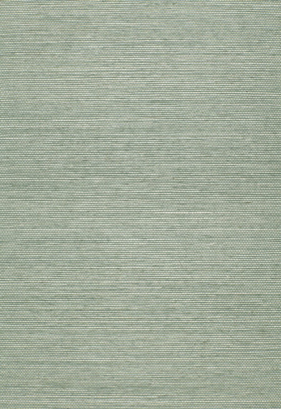 Schumacher Onna Sisal Wallpaper Aqua 5002191