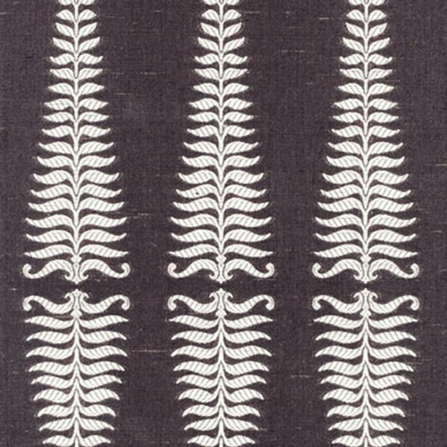 2643881 Schumacher Fern Tree Ivory Grey Flannel
