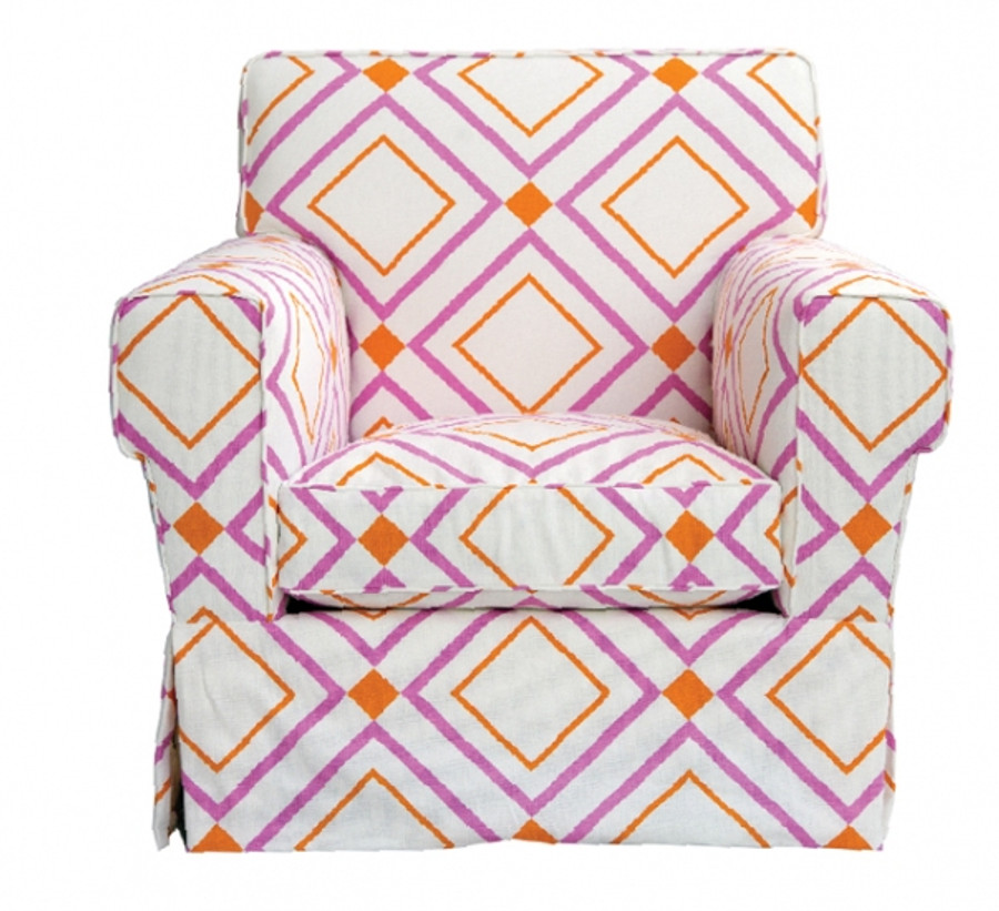 Chair in Victoria Hagan Diamond Lights Pink/Orange