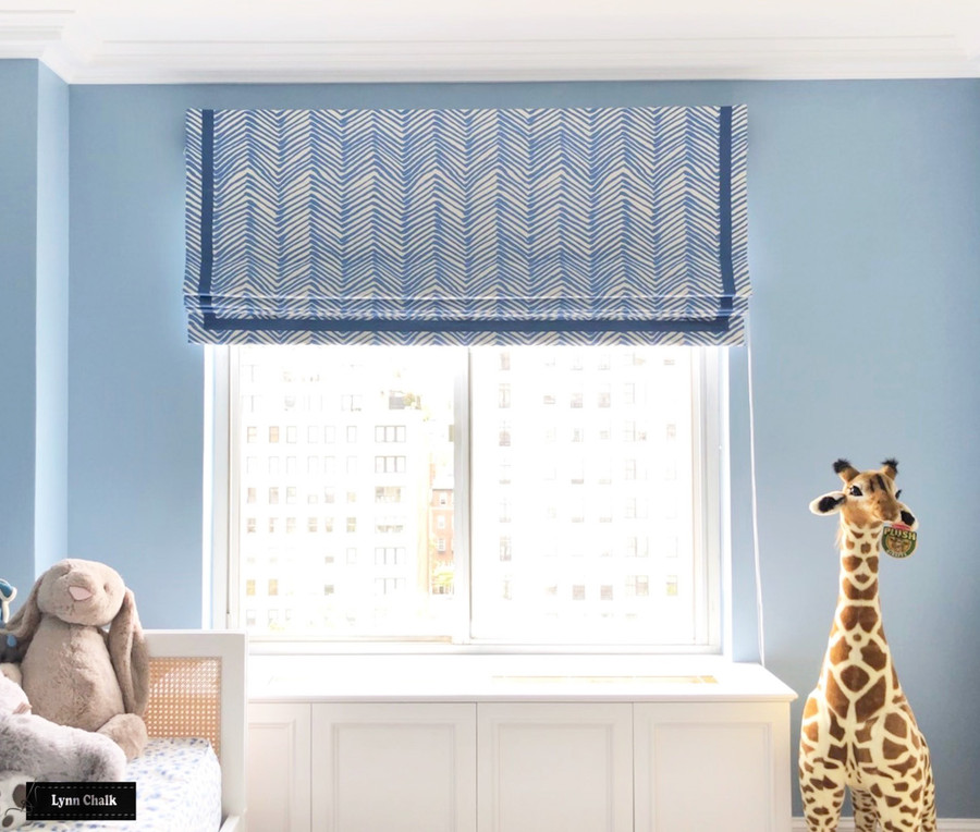 Quadrille Alan Campbell Zig Zag Roman Shades (Comes in 14 Colors)