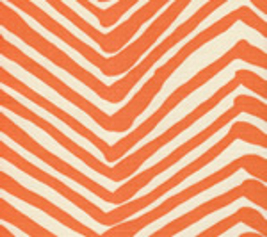 Quadrille Zig Zag in Orange