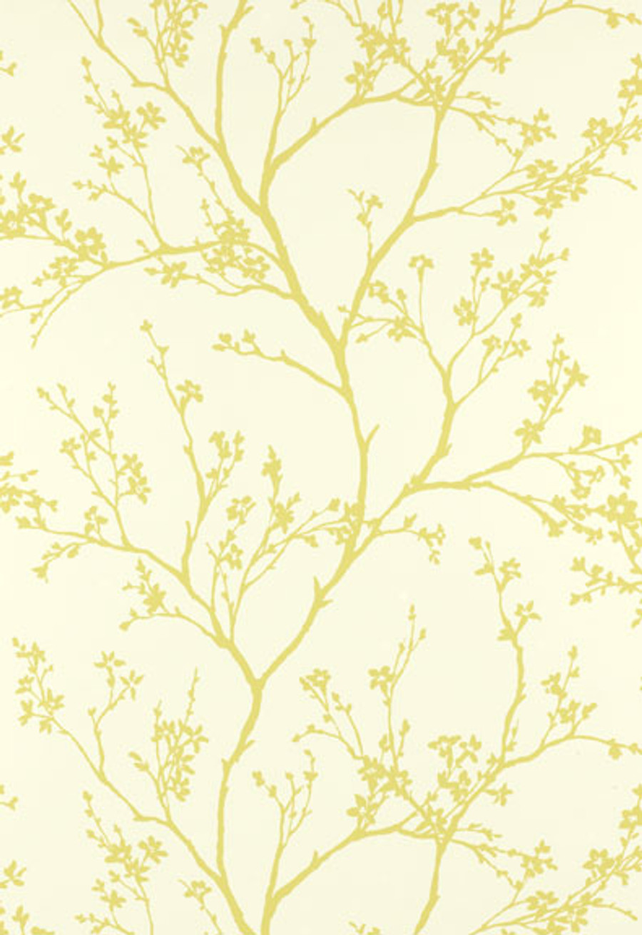 Schumacher Twiggy Wallpaper in Soft Chartreuse 5003342