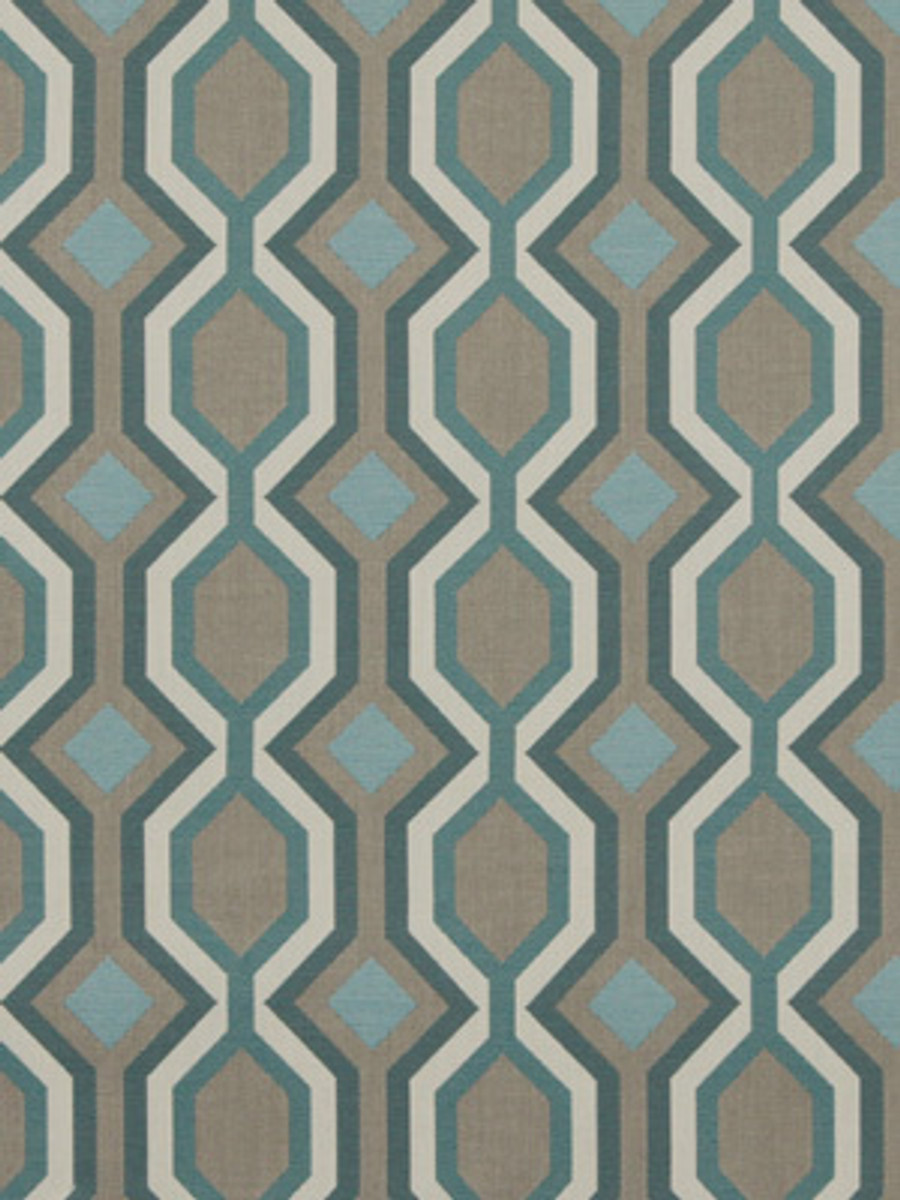 Dwell Studio Diamond Vista in Turquoise