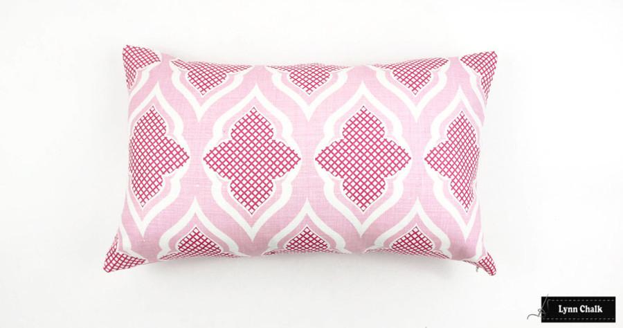 Christopher Farr Venecia Hot Pink Roman Shades in Nursery