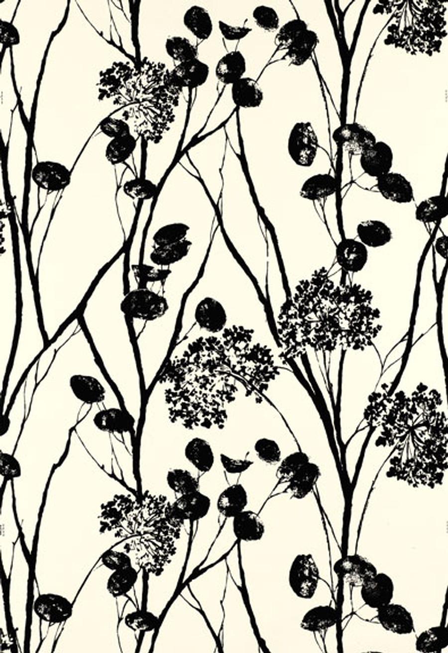 Schumacher Moonpennies Wallpaper in Black & Ivory