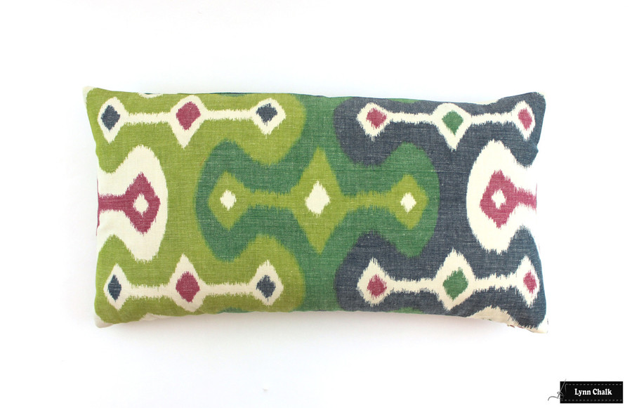 12 X 14 Pillow in Darya Ikat in Jewel