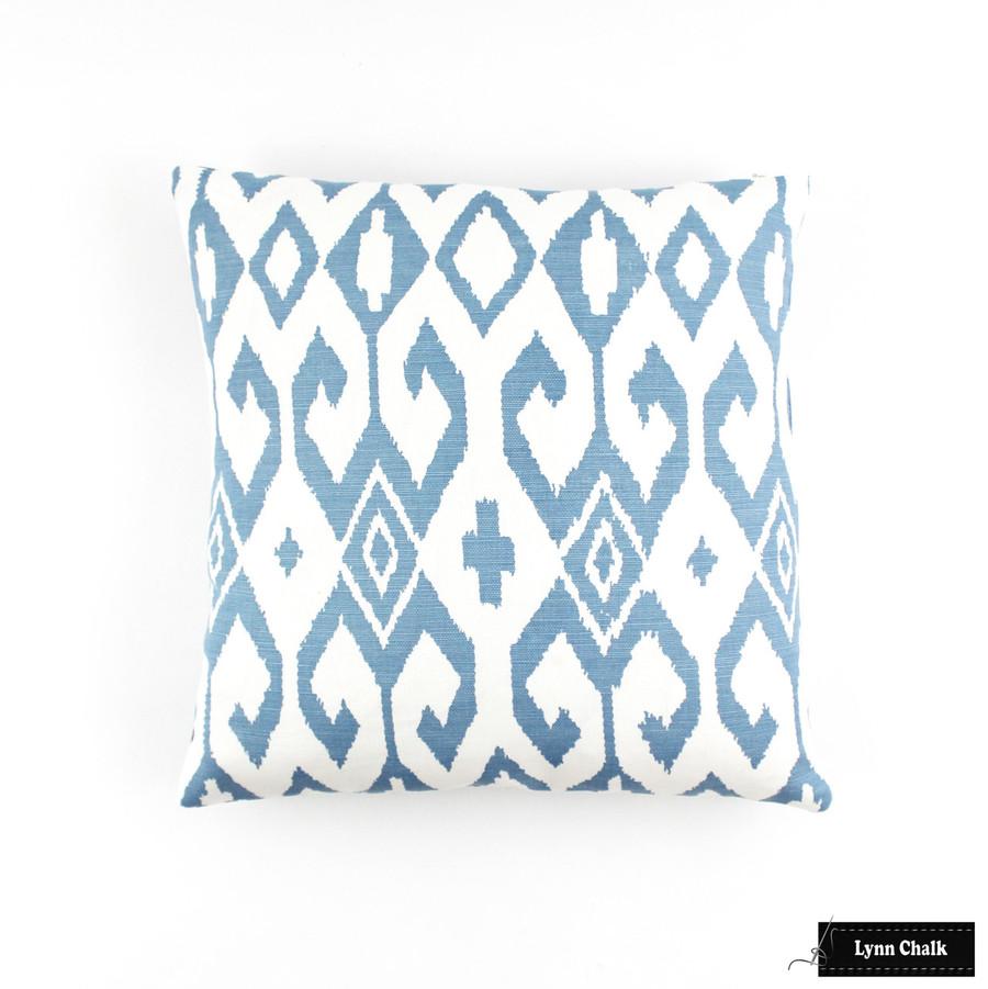 Aqua II French Blue on White Pillow (16 X 16)