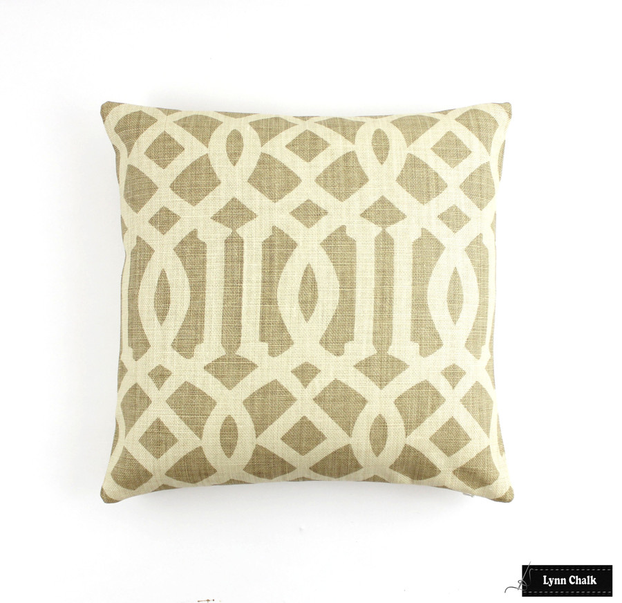 Schumacher Imperial Trellis Pillows with Welting (Comes in 11 Colors)