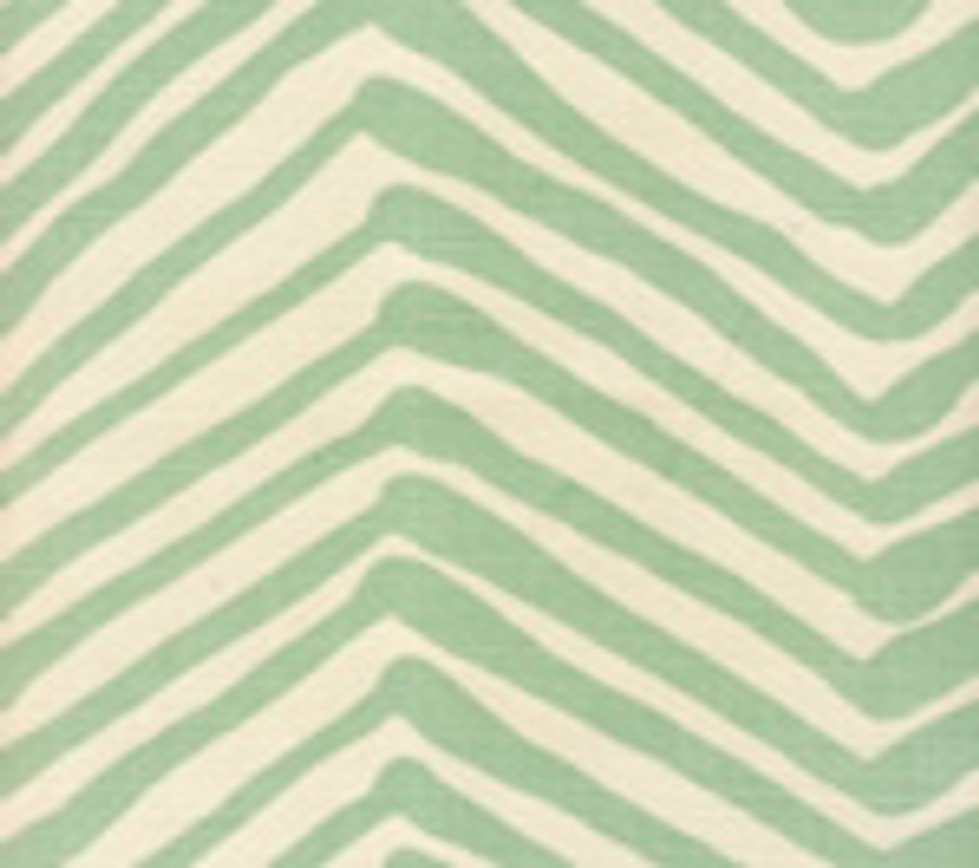 Quadrille Alan Campbell Zig Zag Aqua on Tint