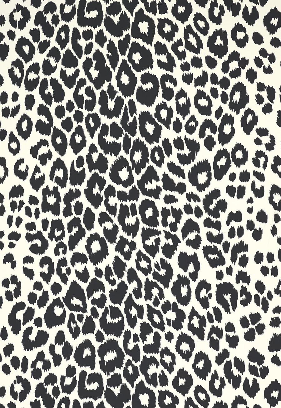 Iconic Leopard Wallcovering in Graphite