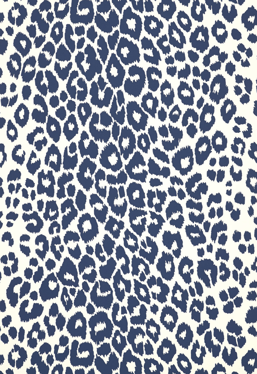 Iconic Leopard Wallcovering in Ink