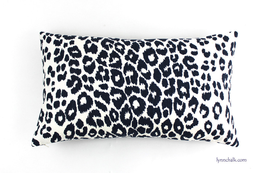 Custom 14 X 24 Knife Edge Pillow in Iconic Leopard in Ink