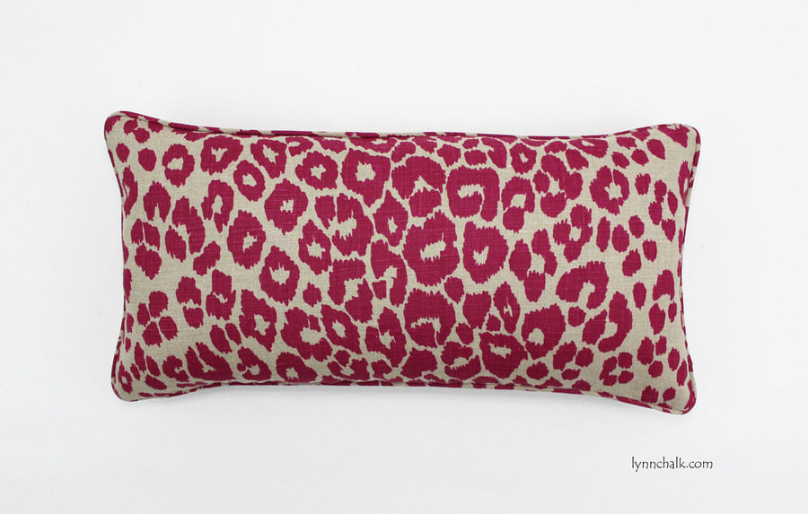 Custom Pillow by Lynn Chalk in Schumacher Iconic Leopard Fuchsia/Natural