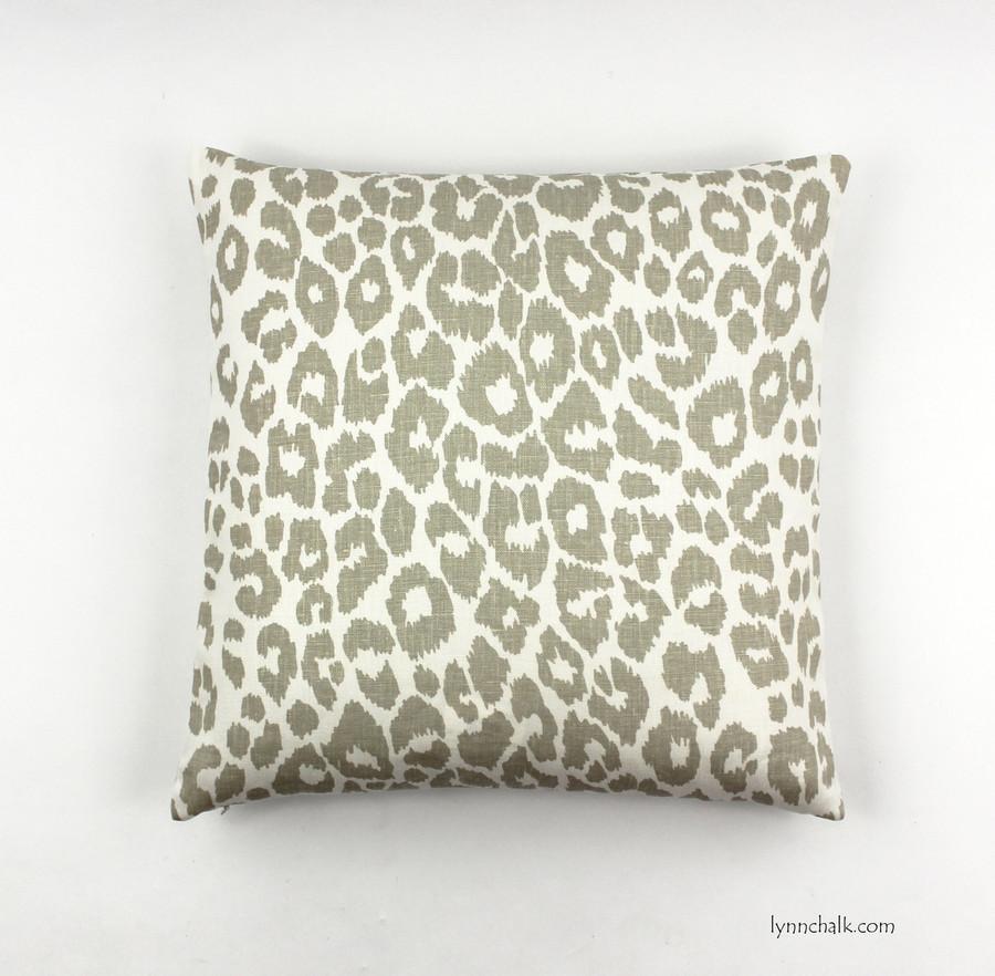 Custom Knife Edge Pillow in Iconic Leopard in Linen