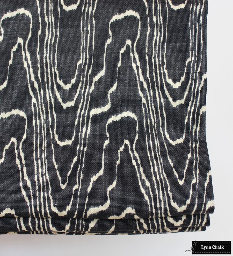 Custom Roman Shade in Kelly Wearstler Agate in Ebony/Beige