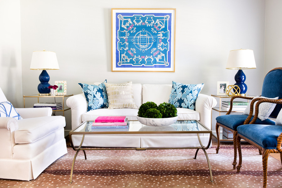 Kelly Wearstler Bengal Bazaar Pillows Teal (Jennifer Barron Interiors)
