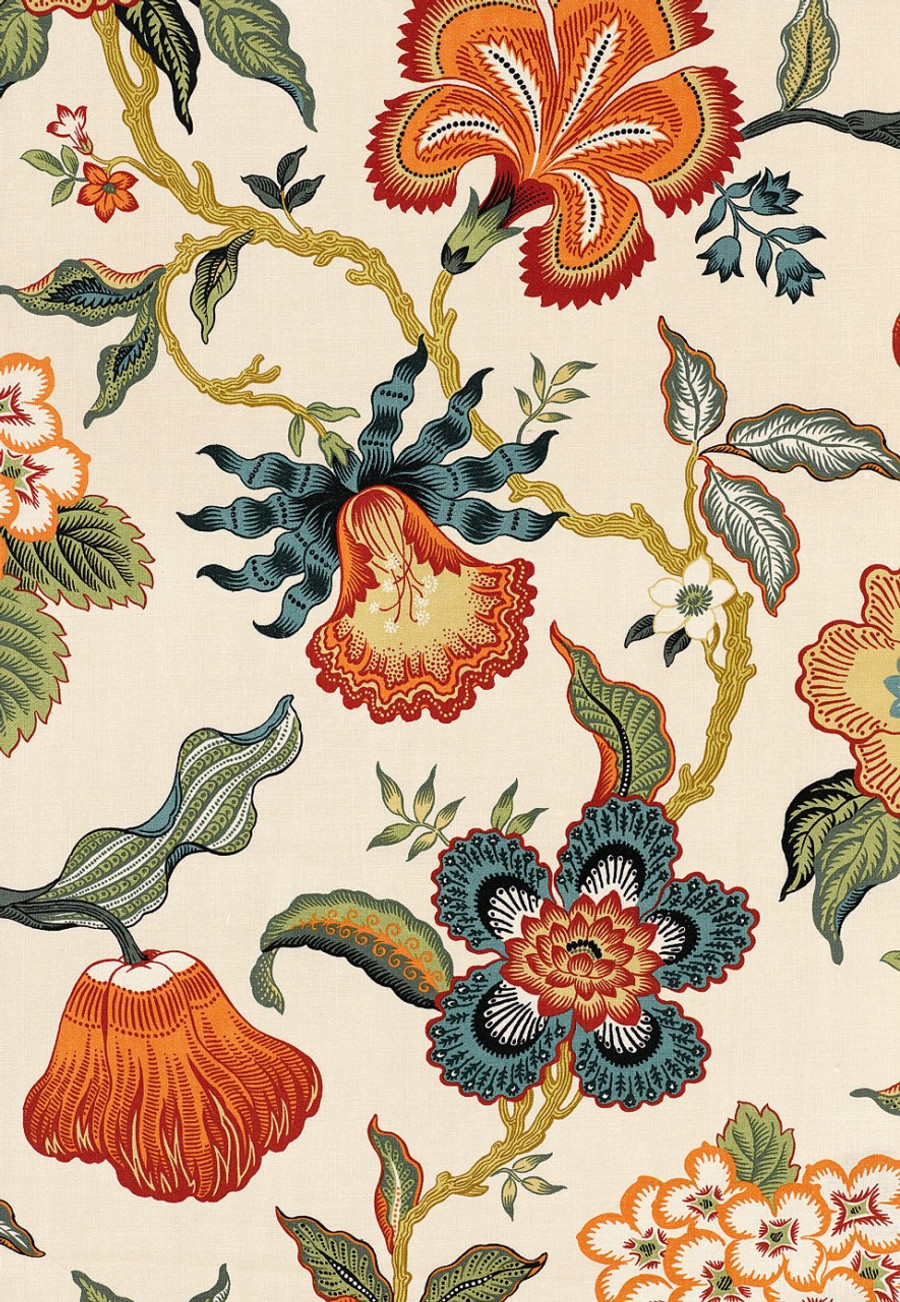 Celerie Kemble Hot House Flowers in Spark