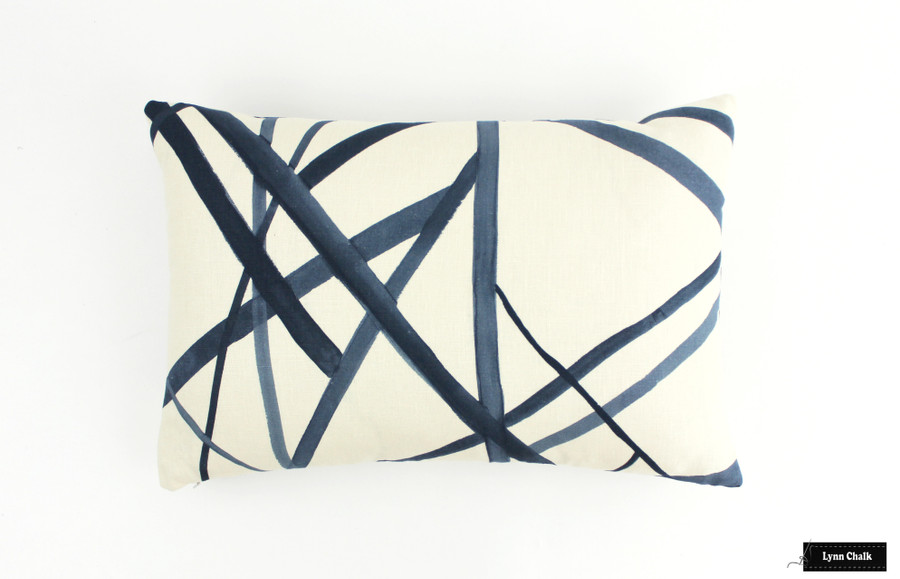 Kelly Wearstler for Lee Jofa/Groundworks Channels Custom Pillows - (Shown in Taupe/Ivory)