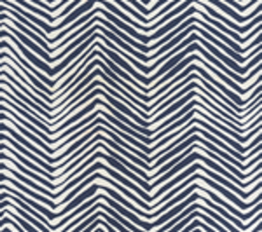 Quadrille Alan Campbell Petite Zig Zag New Navy on White