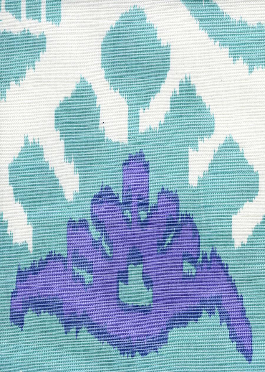 Kazak Aqua/Lilac