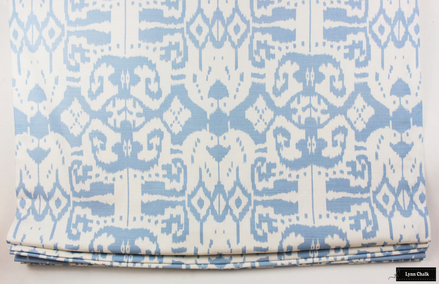 Quadrille China Seas Island Ikat Roman Shade (Shown in Zibby Blue - Comes in many colors)