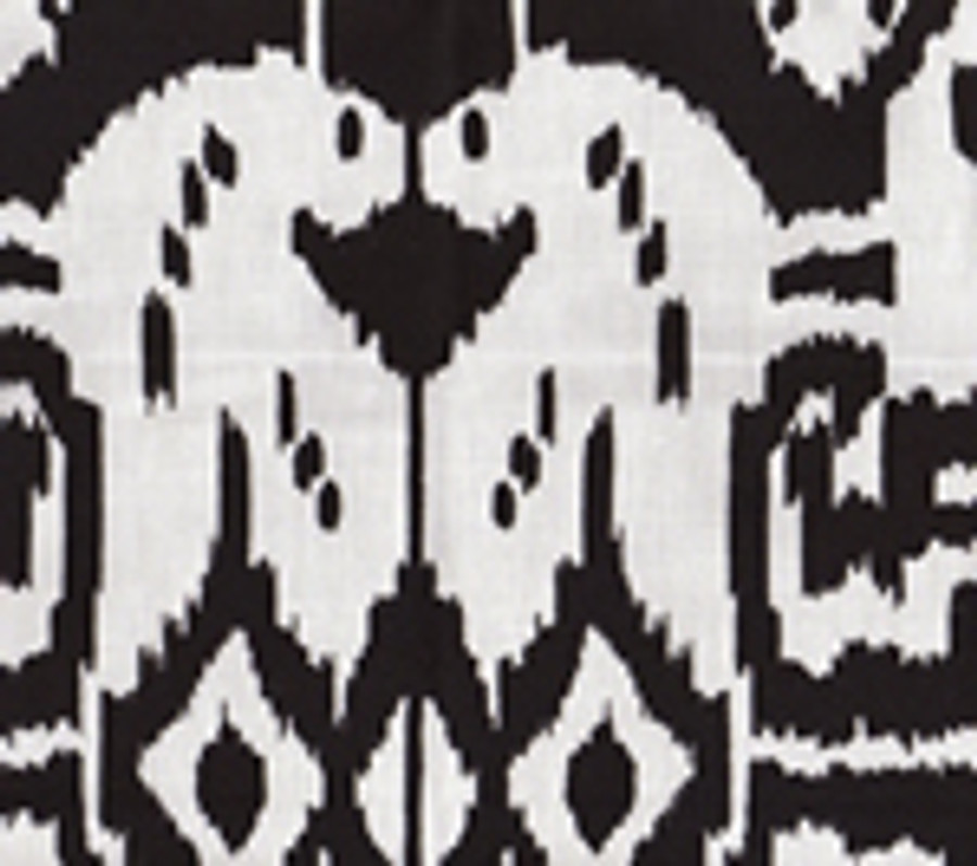 Quadrille Island Ikat Black on White