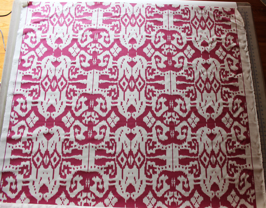 Quadrille China Seas Island Ikat in Magenta