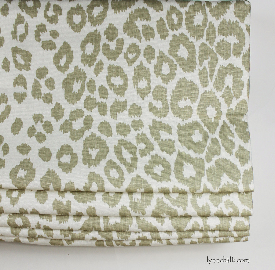 Custom Roman Shade by Lynn Chalk in Schumacher Iconic Leopard in Linen