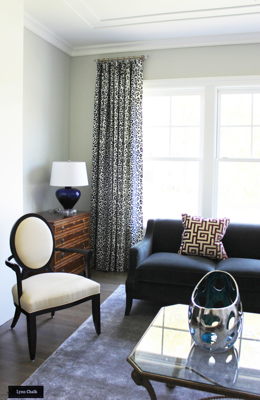 Schumacher Iconic Leopard Roman Shades (Shown in Fuchsia/Natural - comes in other colors)
