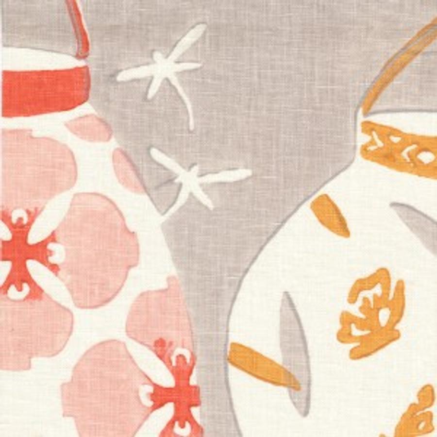 Galbraith & Paul Lanterns Blossom on Cream Linen